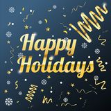 Happy holidays background with snowflakes vector image royalty free stock photography