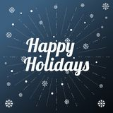 Happy holidays background with snowflakes vector image royalty free stock image