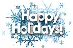 Free Happy Holidays Background With Snowflakes. Stock Image - 100796321
