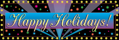 Happy Holidays Banner. A party banner for a Happy Holiday celebration Royalty Free Stock Photo