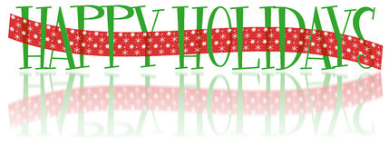 Happy Holidays Banner Stock Photo
