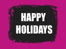 Happy holidays banner. Happy holidays pink and black banner Royalty Free Stock Images