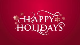 Happy holidays banner with snowflakes