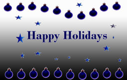 Happy Holidays Blue Poster Stock Photography