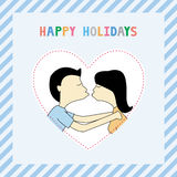 Happy holidays8 Stock Images