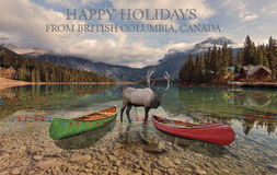 Happy Holidays from British Columbia Royalty Free Stock Photo