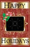 Happy Holidays Candy Cane Stock Photos