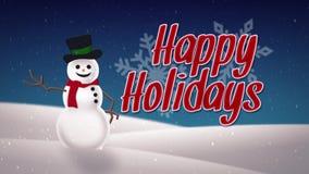 Happy Holidays Card stock video