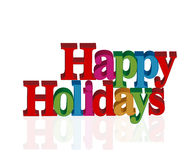 Happy holidays card. 3D vector graphic design Royalty Free Stock Images