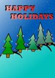 Happy Holidays card. Image of happy holidays landscape Stock Image