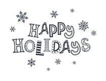 Happy holidays card Royalty Free Stock Photo