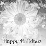 Happy Holidays Card/panel. Abstract graphic black and white holiday card Stock Photos