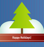 Happy Holidays. Card 3 Stock Images
