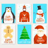 Happy holidays cards template Stock Photography
