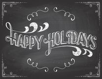 Happy Holidays chalkboard stock illustration