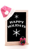 Happy Holidays Chalkboard Royalty Free Stock Images