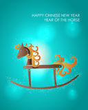 Happy holidays Chinese New Year of the Horse. 2014 Chinese New Year Cute colorful toy horse illustration. EPS10 vector file with transparency layers Royalty Free Illustration