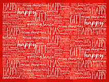 Happy Holidays and Christmas background word cloud Royalty Free Stock Photo