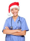 Happy holidays christmas nurse Stock Photo