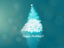 Happy Holidays! Christmas Tree  Stock Image