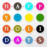 Happy Holidays Colorful Circles Royalty Free Stock Photos