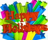 Happy holidays 3D festive image. Design template Royalty Free Stock Photography