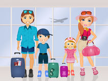 Happy holidays family Royalty Free Stock Photography