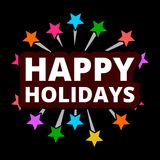 Happy holidays fireworks. Vector icon Royalty Free Stock Photos