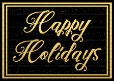Happy Holidays. Glitzy and glamorous Happy Holidays card Royalty Free Stock Photography