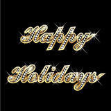Happy holidays gold. Bling bling Stock Photo