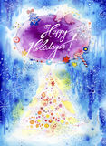 Happy Holidays Greeting Card vector illustration