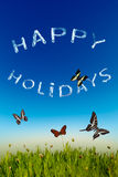 Happy holidays greeting card royalty free stock photos
