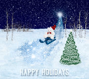 Happy Holidays greeting card. Christmas background Stock Photography