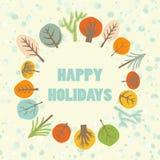 Happy holidays greeting card stock illustration