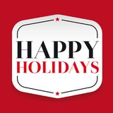 Happy Holidays greeting card. Vector Royalty Free Stock Image