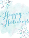 Happy Holidays. Greeting card with snowflakes Stock Photography