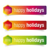 Happy Holidays greeting card. Vector Stock Image