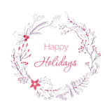 Happy holidays greeting card Royalty Free Stock Photo
