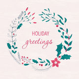 Happy holidays greeting card Stock Images