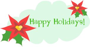 Happy Holidays Greeting with Flowers Stock Photography