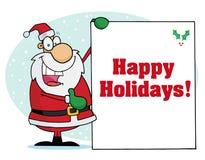 Happy holidays greeting with santa vector illustration