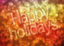 Happy Holidays. Greetings card with lettering royalty free stock photos
