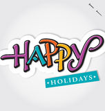 HAPPY HOLIDAYS hand lettering (vector) Royalty Free Stock Photos