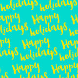 Happy Holidays hand-lettering. Handmade  calligraphy. Decoration Stock Photography