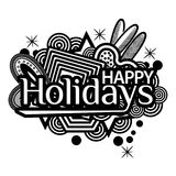 Happy Holidays. Hand lettering typography text. Doodles. vector illustrator. EPS file available. see more images related Royalty Free Stock Image