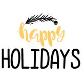 Happy Holidays. Handwritten Lettering. royalty free stock photos