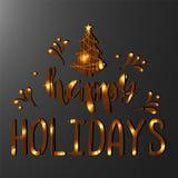 Happy Holidays. Handwritten Lettering. stock photo