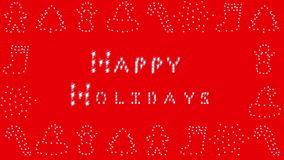 Happy Holidays, Holiday border, red stock footage