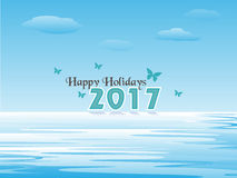 Happy Holidays 2017. Happy Holiday, New Year and Christmas 2017 royalty free illustration