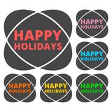 Happy Holidays icon. Vector icon Stock Images